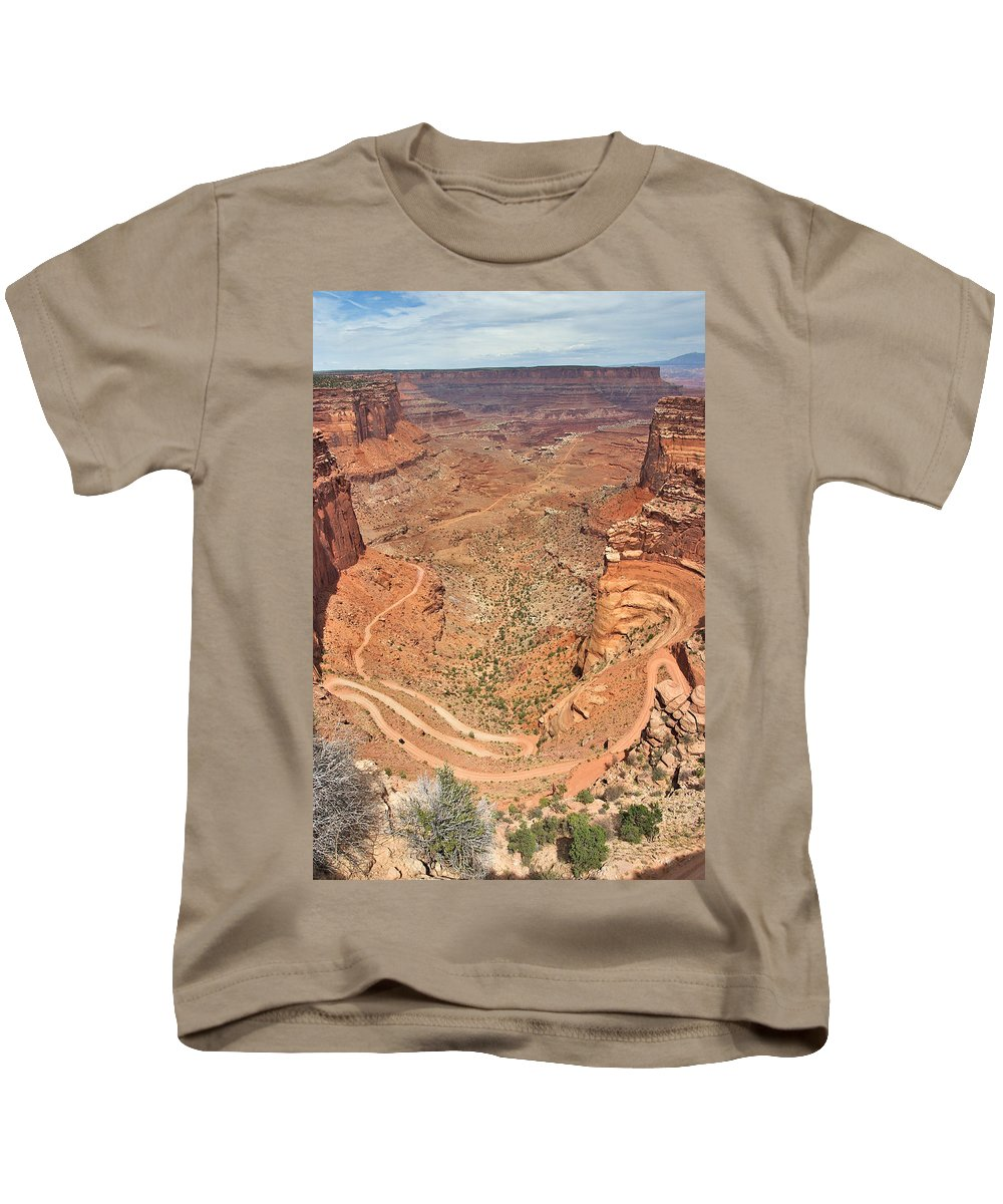 3scape Kids T-Shirt featuring the photograph Shafer Trail by Adam Romanowicz