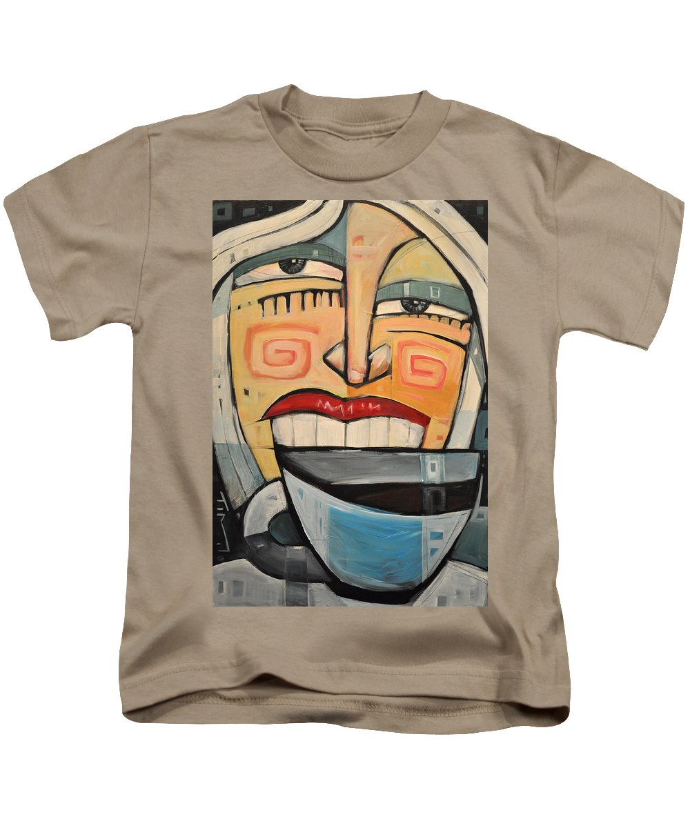 Coffee Kids T-Shirt featuring the painting She Likes Her Coffee by Tim Nyberg