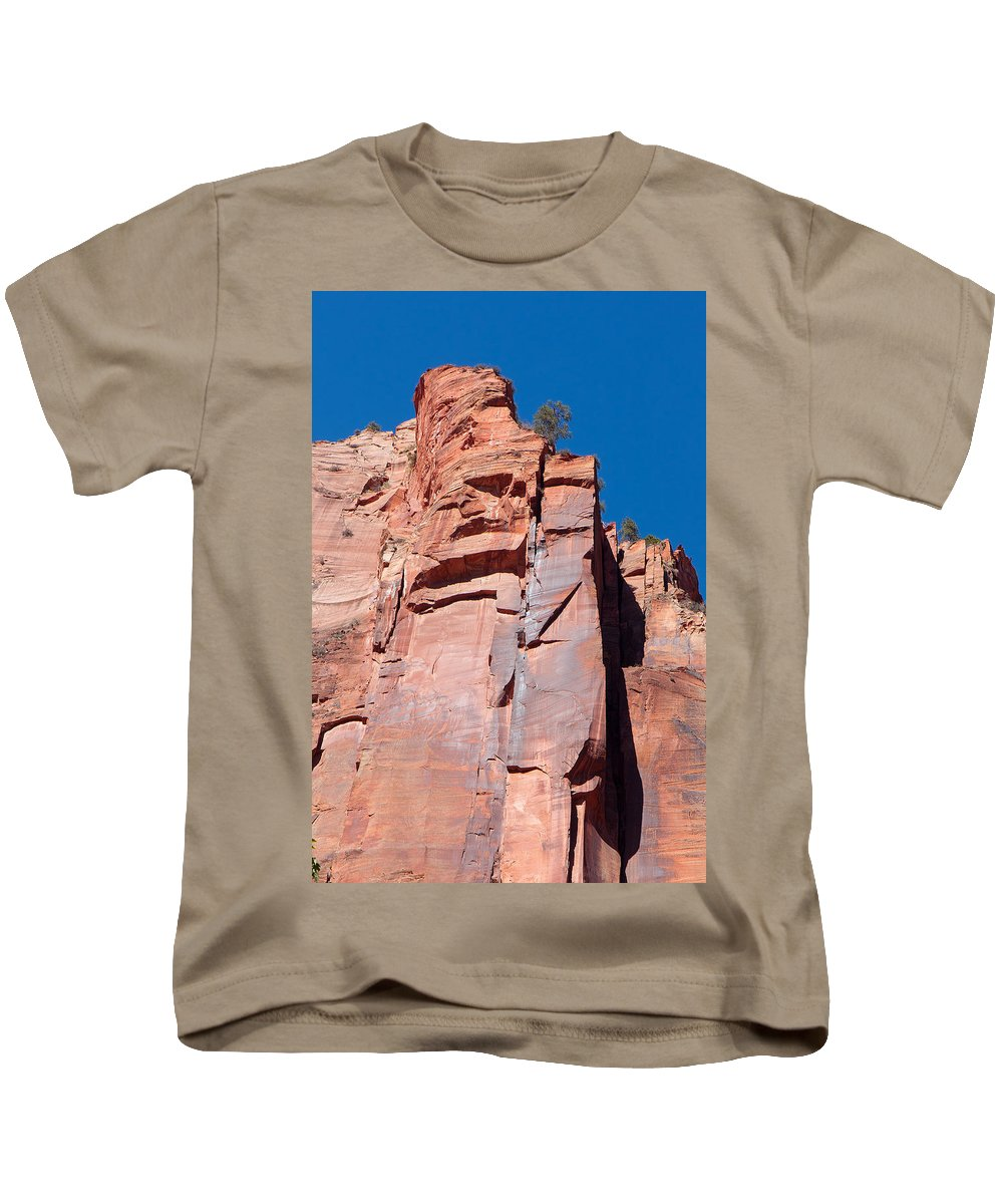 Landscape Kids T-Shirt featuring the photograph Sheer Canyon Walls by John M Bailey