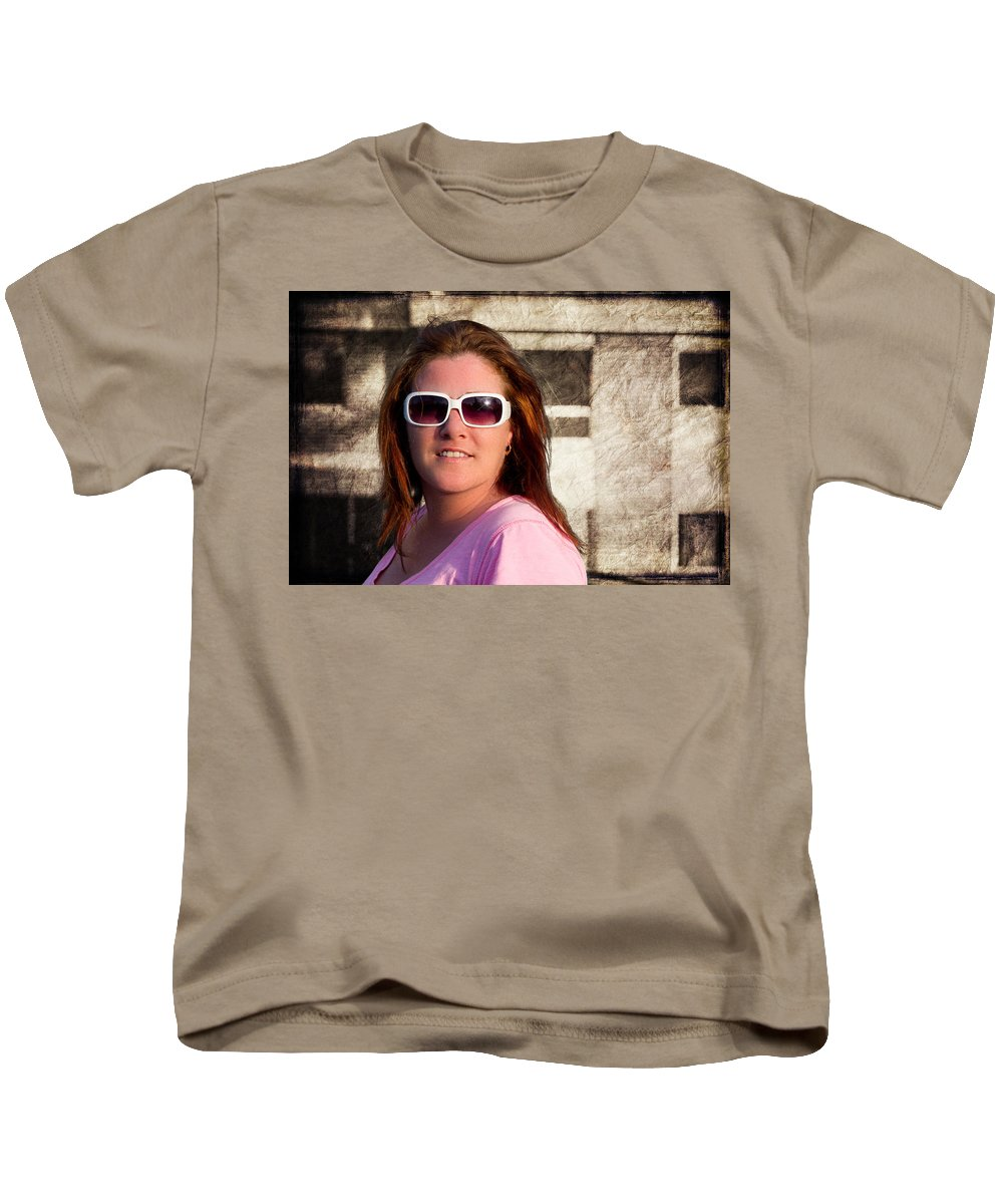 Woman Kids T-Shirt featuring the photograph Shelly And Queen Elizabeth by John Herzog