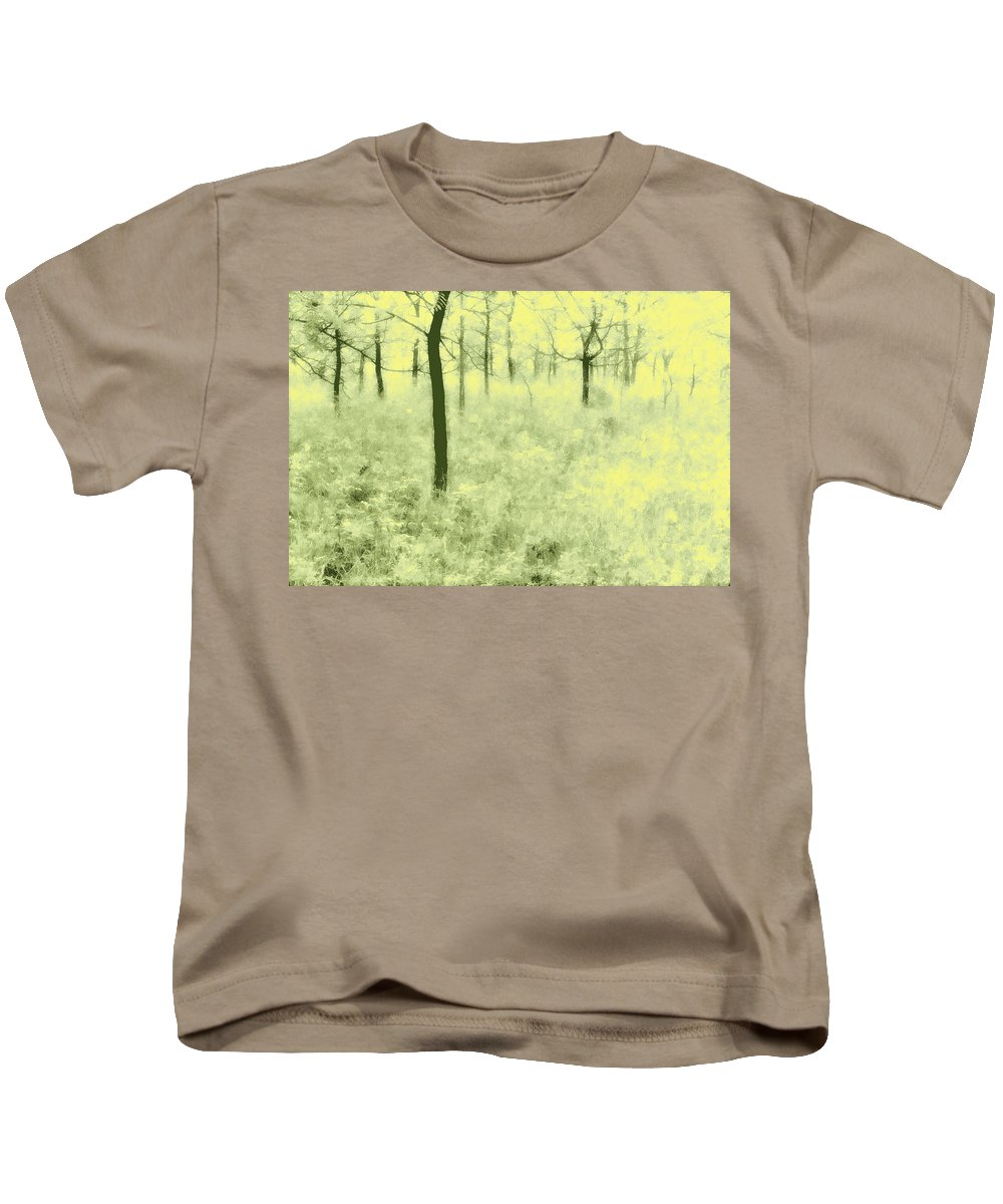 Trees Kids T-Shirt featuring the photograph Shimmering Spring Day by John Hansen