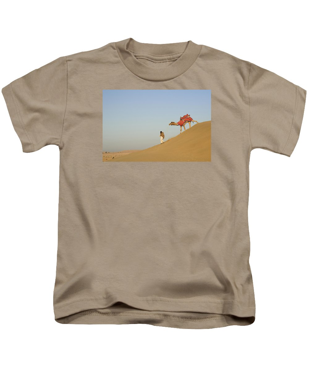 Down Kids T-Shirt featuring the photograph Skn 0950 Down The Dune by Sunil Kapadia