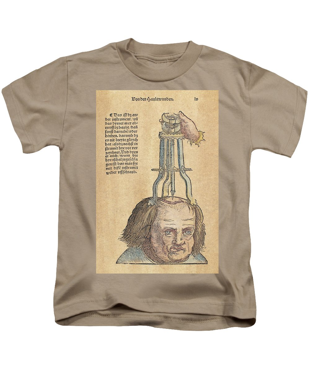 1517 Kids T-Shirt featuring the photograph Skull Operation, 1517 by Granger