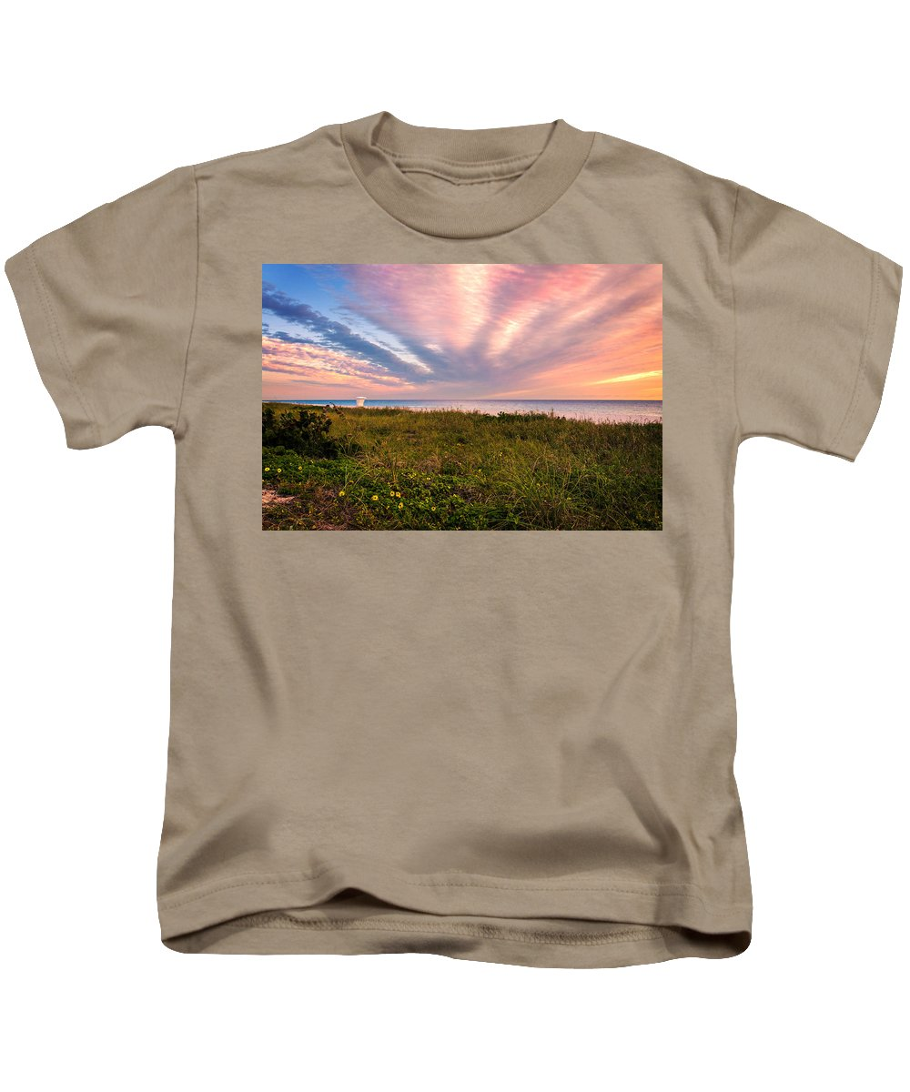 Atlantic Kids T-Shirt featuring the photograph Sky Waves by Lynn Bauer