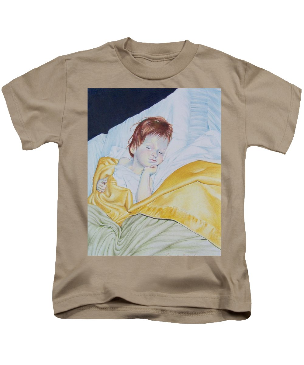 Baby Kids T-Shirt featuring the mixed media Sleeping Beauty by Constance Drescher