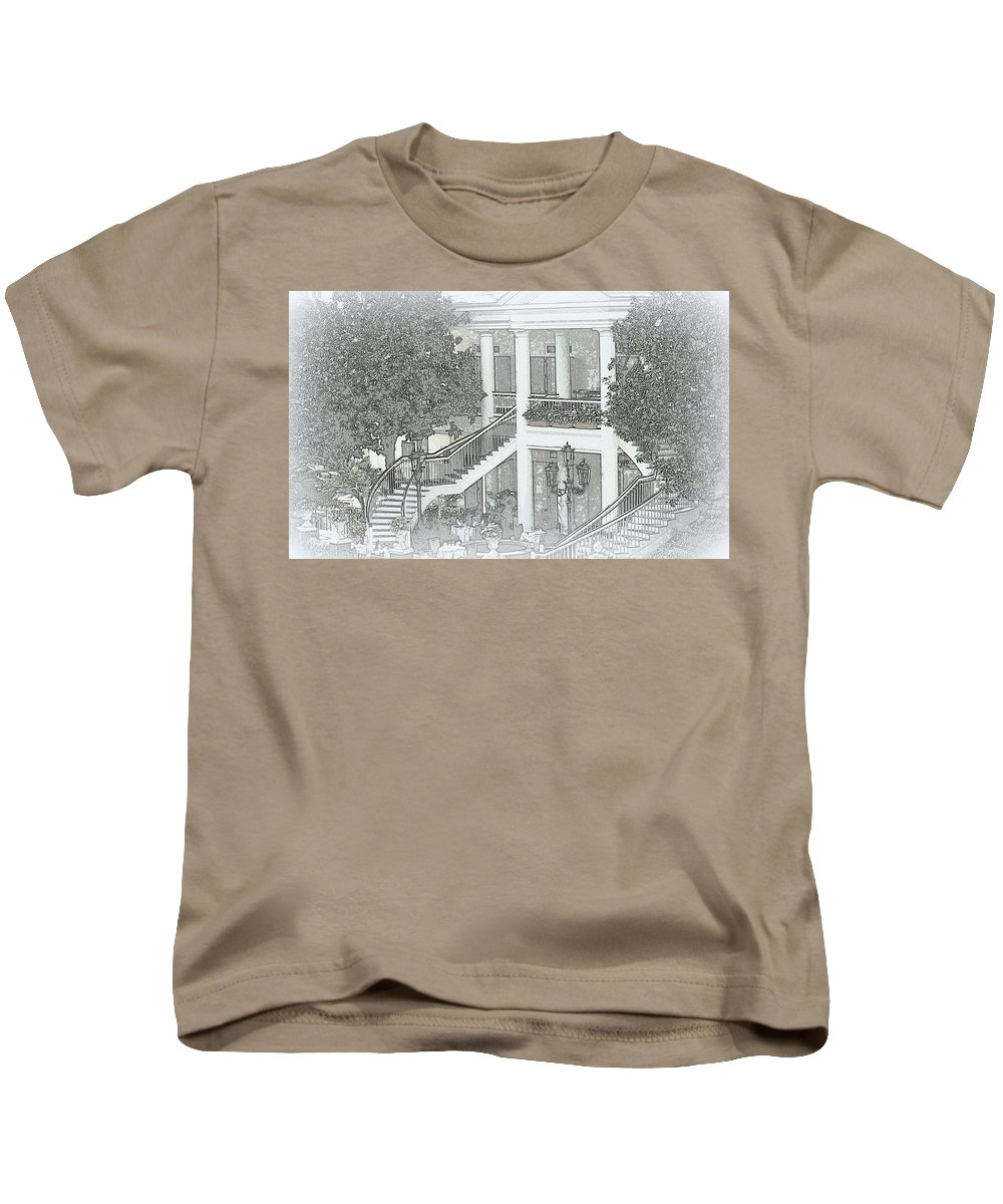 Digital Photograph Kids T-Shirt featuring the digital art Southern Appeal by Laurie Pike