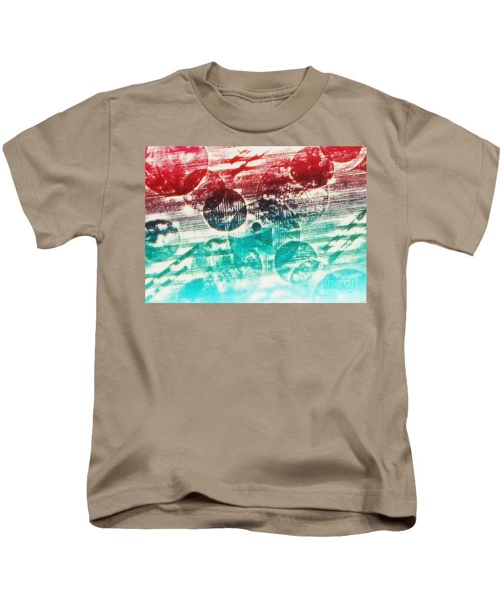 Print Making Abstract Kids T-Shirt featuring the relief Spirtuality Of The Planet by Yael VanGruber