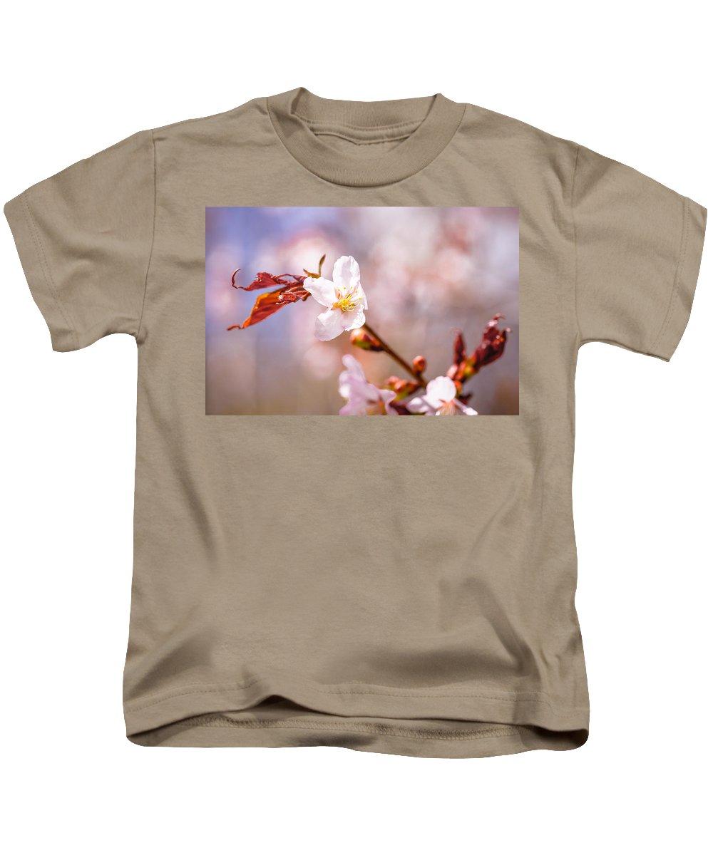 Sakura Kids T-Shirt featuring the photograph Spring Breeze by Alexander Senin