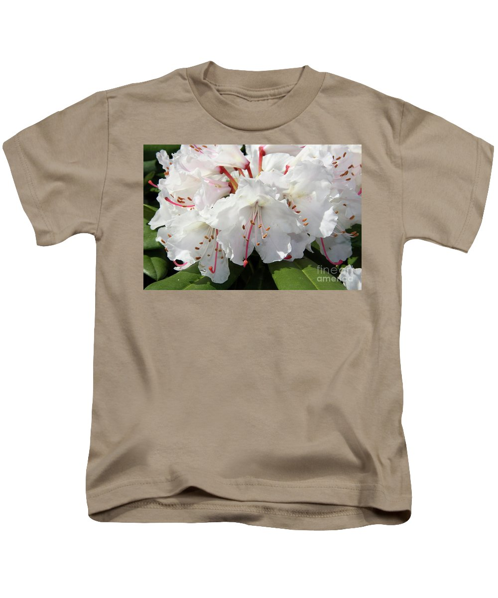 Rhododendron Kids T-Shirt featuring the photograph Spring Pride by Christiane Schulze Art And Photography