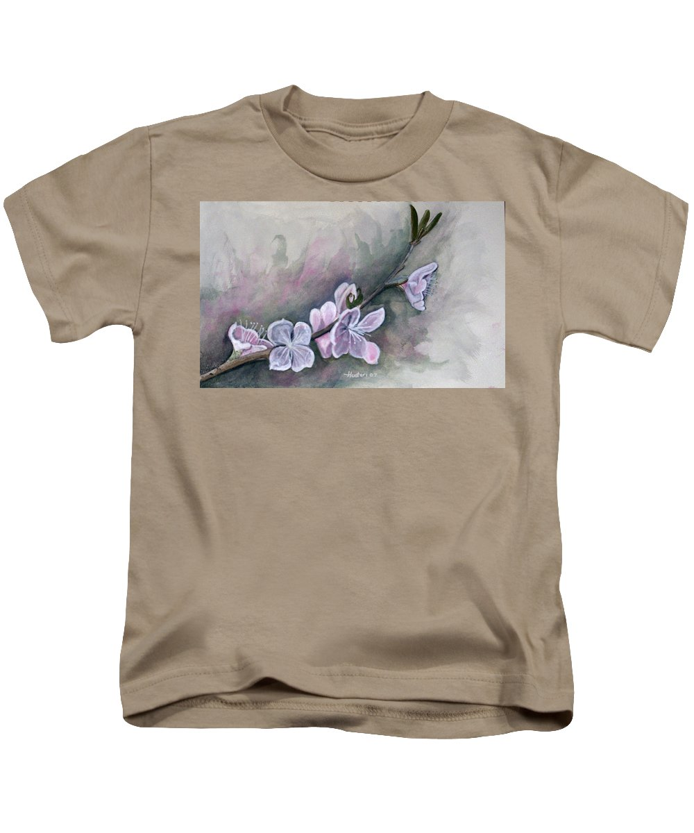 Rick Huotari Kids T-Shirt featuring the painting Spring Splendor by Rick Huotari