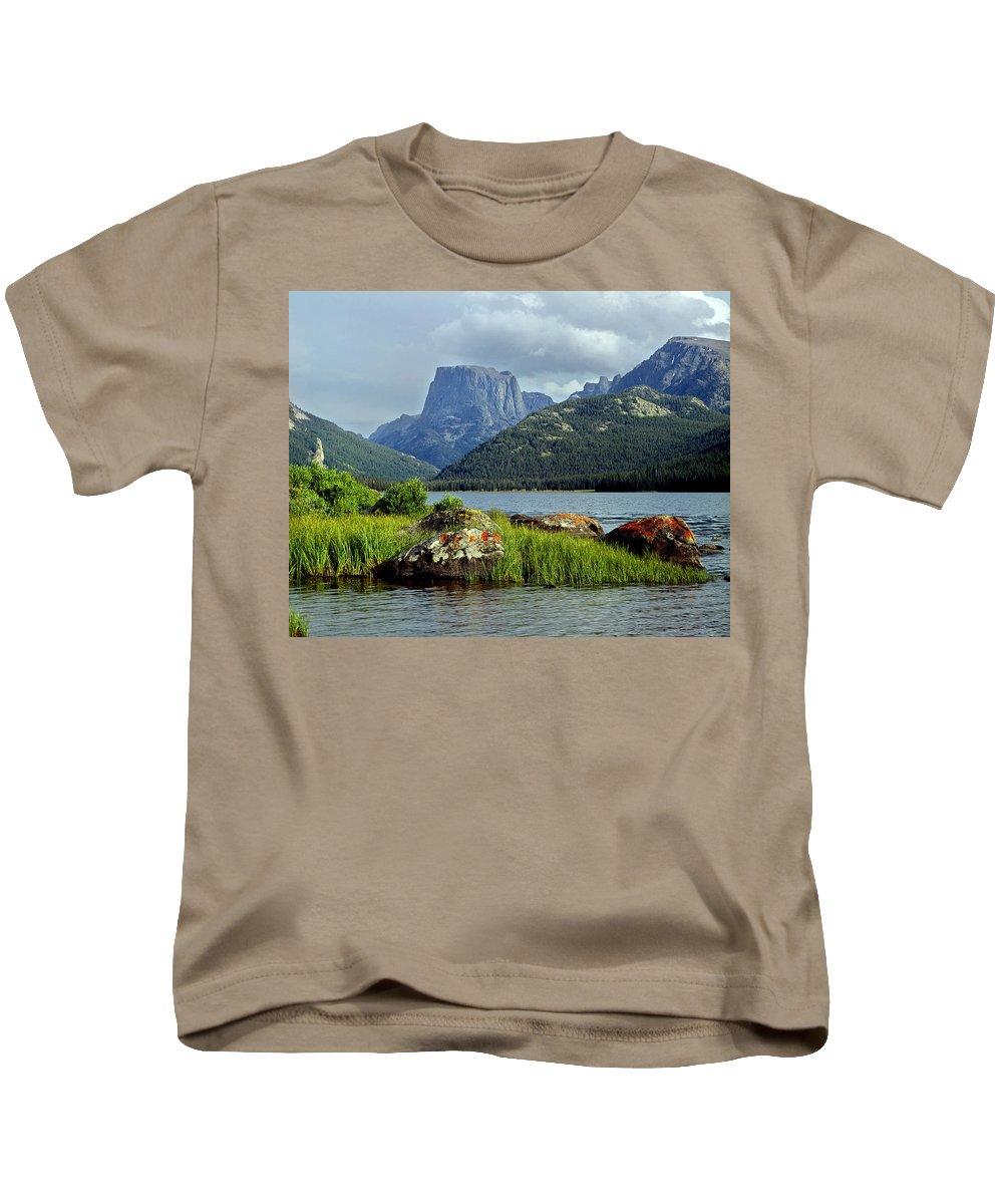 Squaretop Mountain Kids T-Shirt featuring the photograph Squaretop Mountain 1 by Ed Cooper Photography