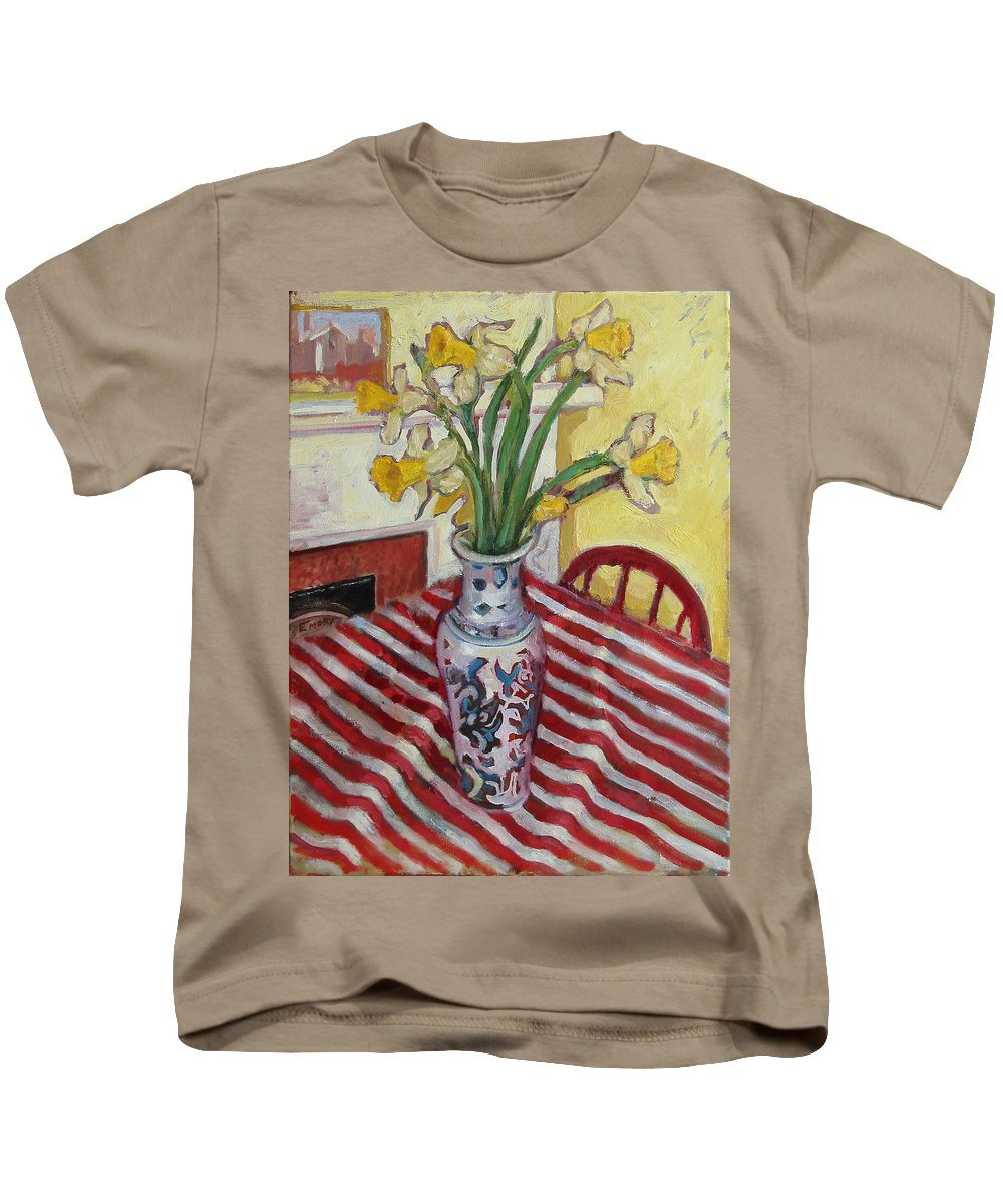 Primary Colors Kids T-Shirt featuring the painting St009 by Paul Emory