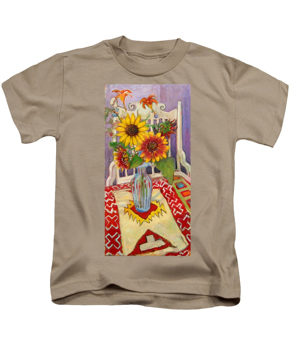 Primary Colors Kids T-Shirt featuring the painting St011 by Paul Emory