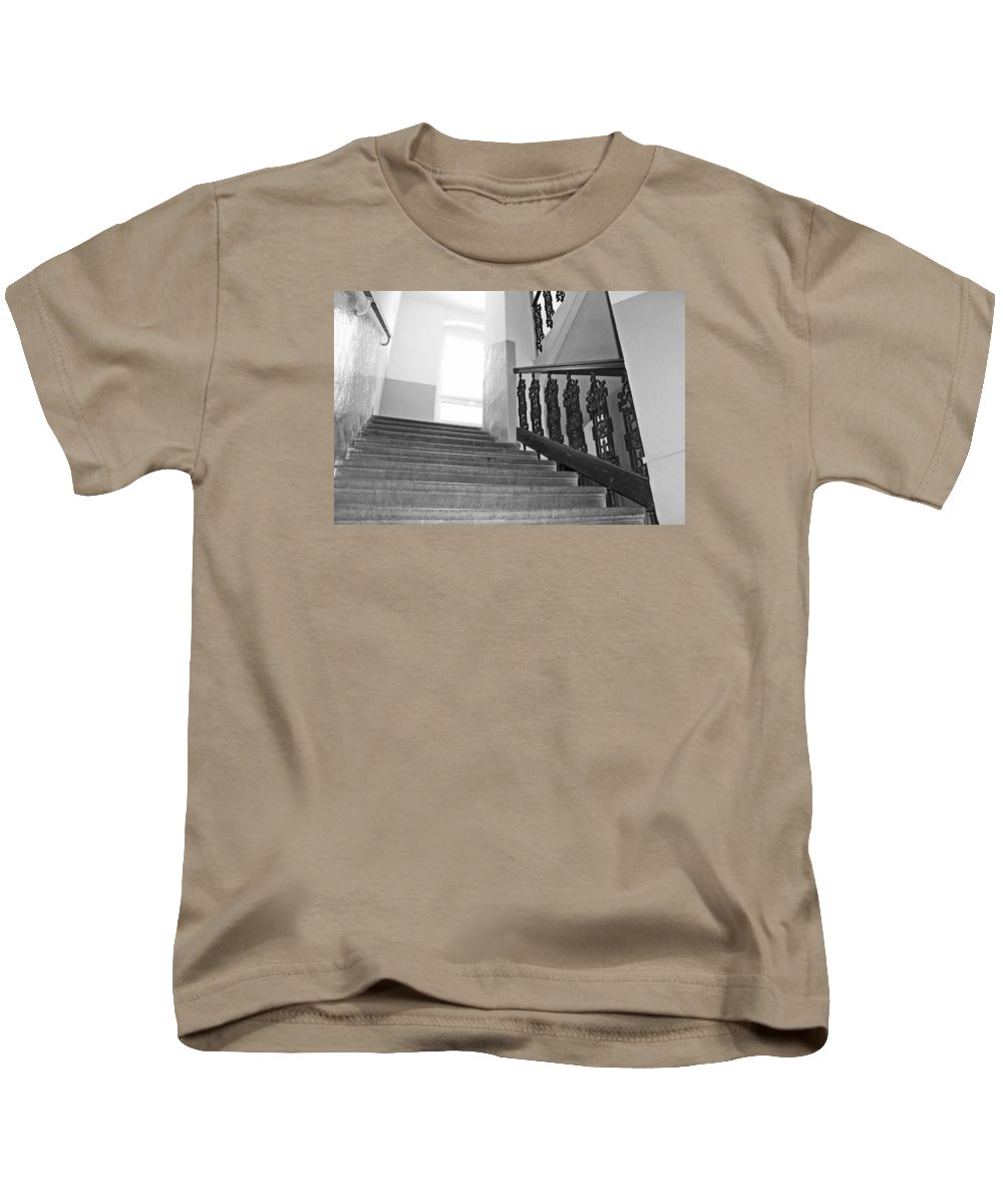 Stairs Kids T-Shirt featuring the photograph Stairs by FL collection