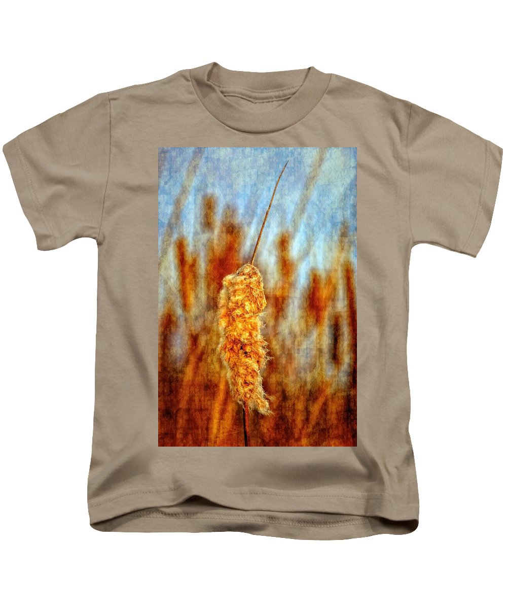 Cattail Kids T-Shirt featuring the photograph Standing Out From The Crowd II by Steve Harrington