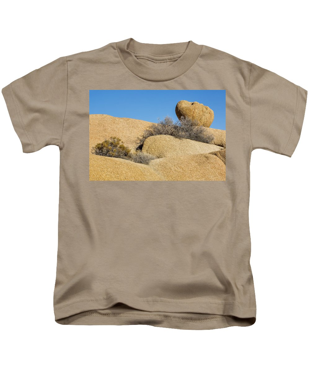 Joshua Tree National Park Kids T-Shirt featuring the photograph Stone by Kelley King