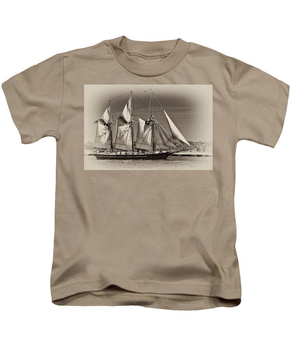 Tall Ship Kids T-Shirt featuring the photograph Tall Ship II by Steve Harrington