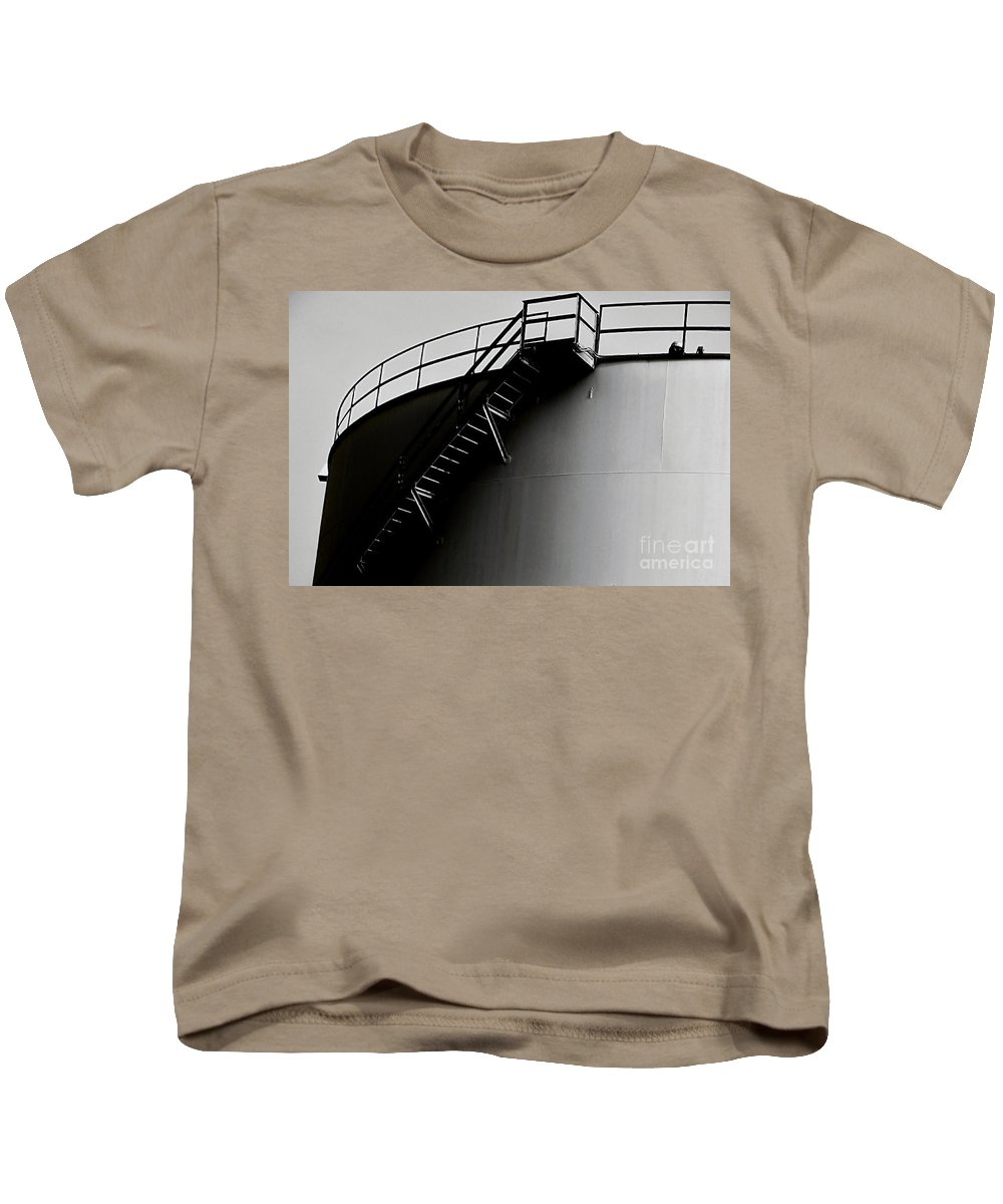 Black And White Kids T-Shirt featuring the photograph Tank by Amar Sheow