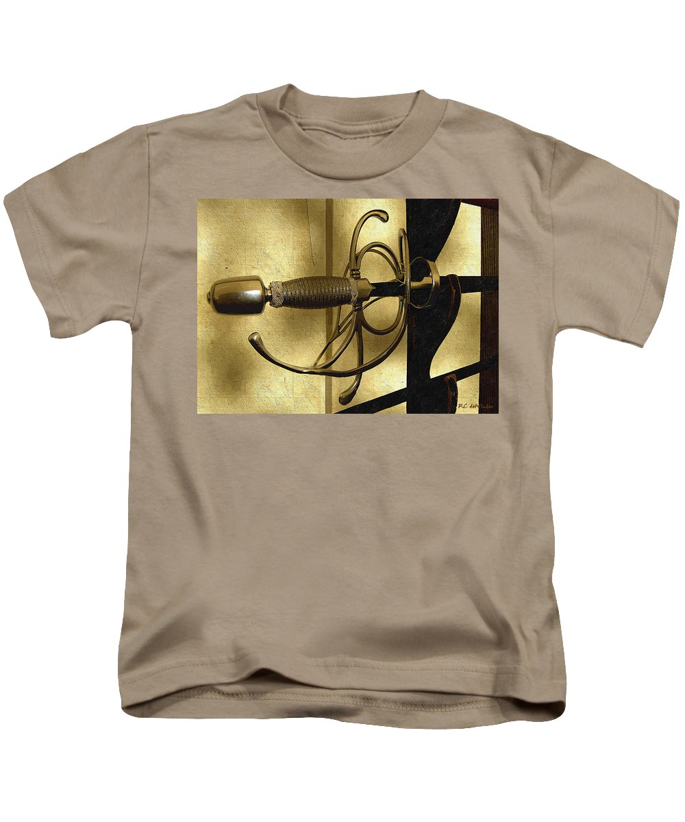 Sword Kids T-Shirt featuring the painting The Art Of The Sword by RC DeWinter