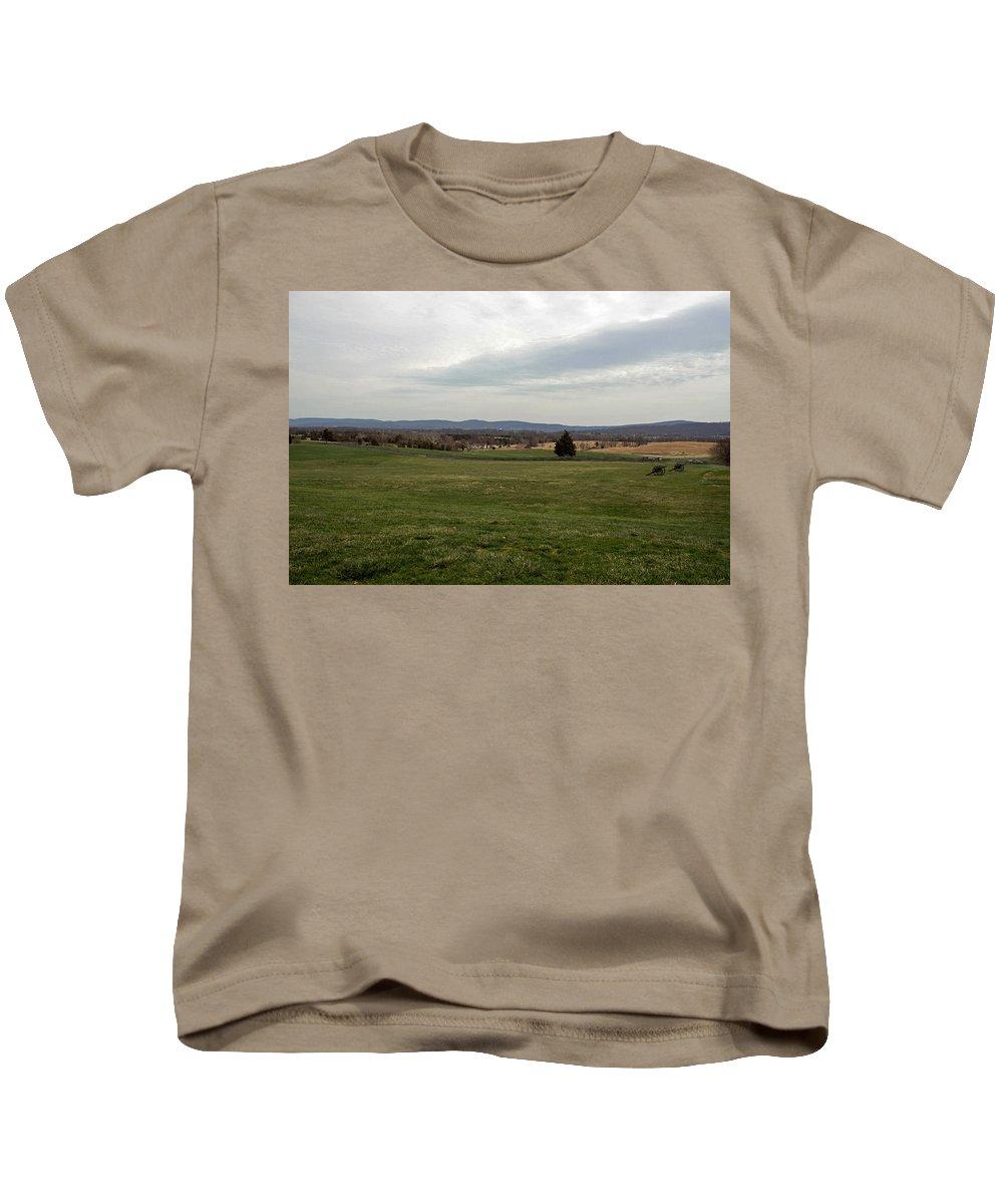 Civil War Kids T-Shirt featuring the photograph The Bloody Fields Of Antietam 1 by Howard Tenke