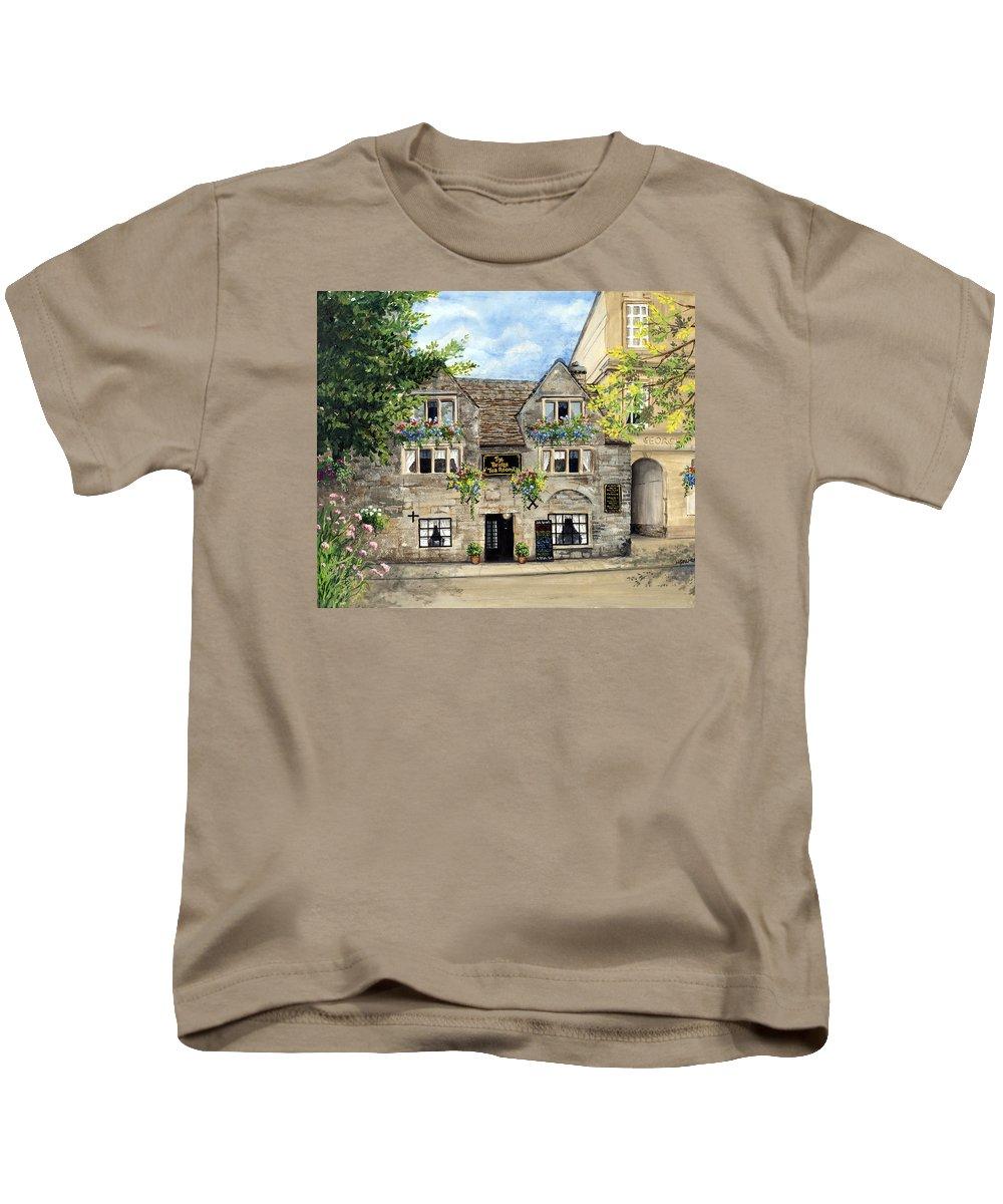 The Bridge Tea Rooms Kids T-Shirt featuring the painting The Bridge Tea Rooms by Mary Palmer