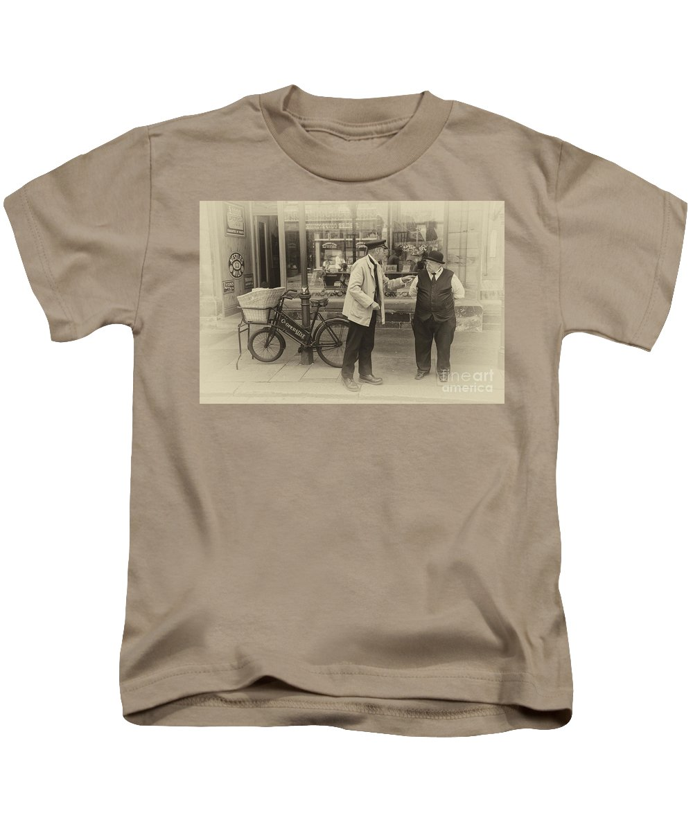 Beamish Kids T-Shirt featuring the photograph The Co Op by Rob Hawkins