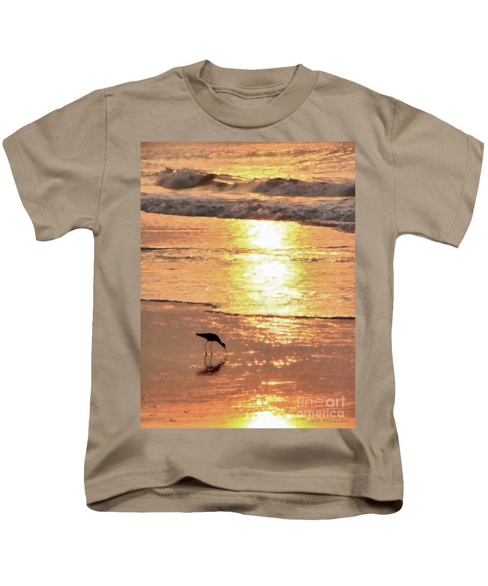 Landscape Kids T-Shirt featuring the photograph The Early Bird by Todd Blanchard