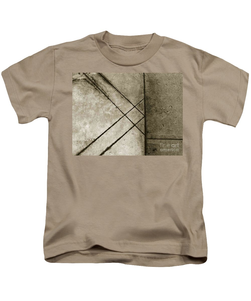 Abstract Kids T-Shirt featuring the photograph The Lines No. 60 by Fei A