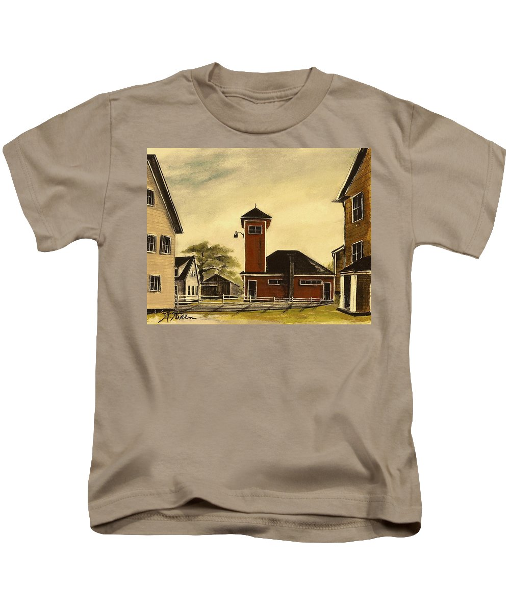 Prairie Kids T-Shirt featuring the painting The Meeting House by Diane Strain