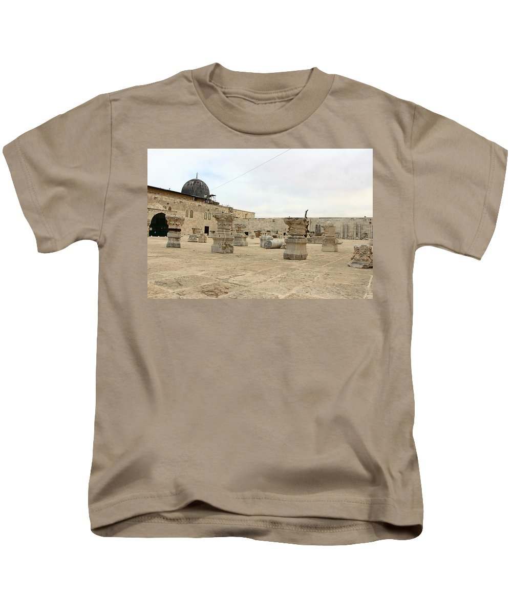 Museum Kids T-Shirt featuring the photograph The Museum At Dome Of The Rock by Munir Alawi