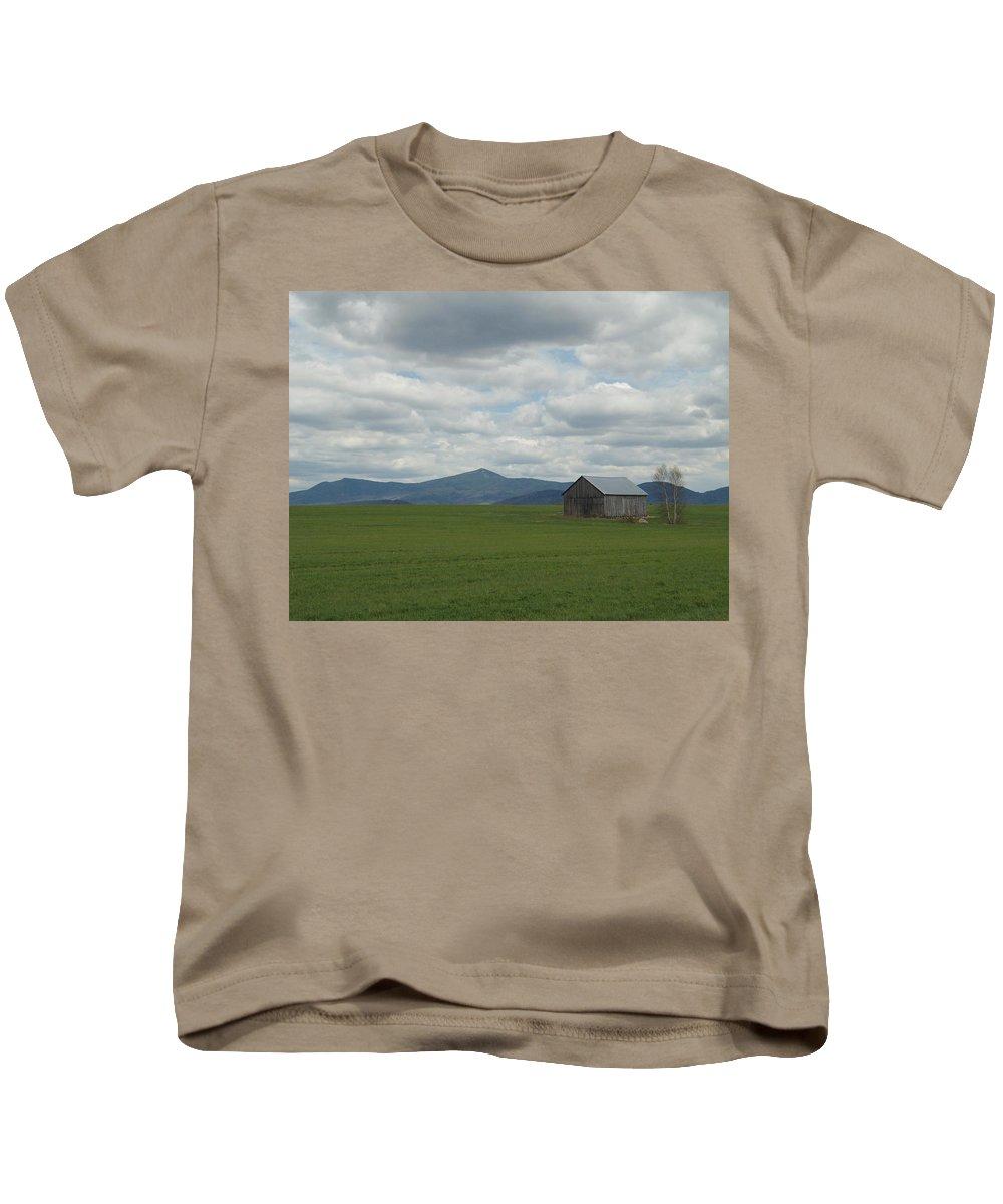 Landscape Kids T-Shirt featuring the photograph The Ridge by Loretta Ransom