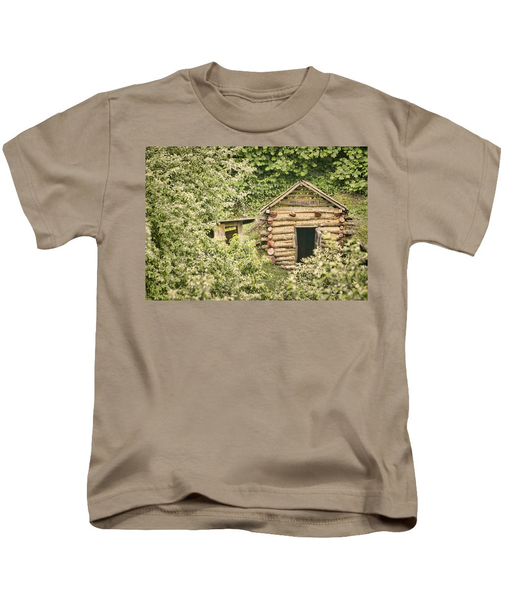 Rustic Kids T-Shirt featuring the photograph The Root Cellar by Heather Applegate