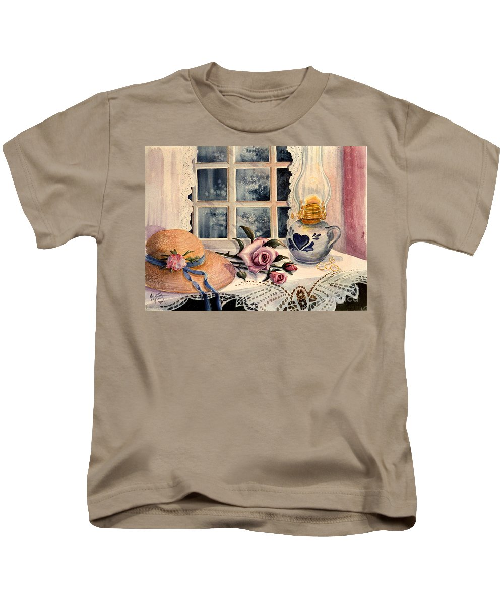 Roses Kids T-Shirt featuring the painting The Rose by Marilyn Smith