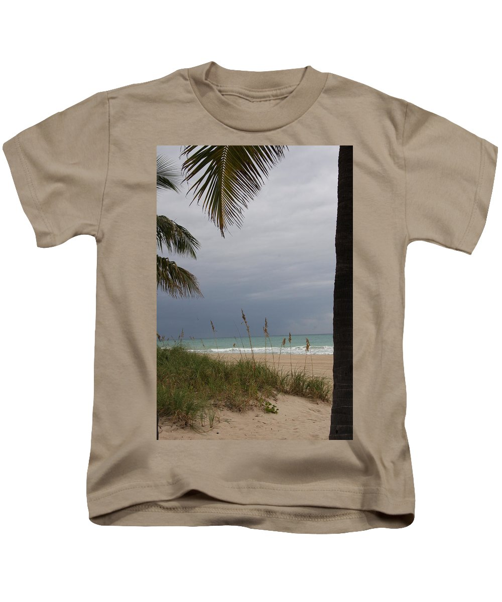 Beach Kids T-Shirt featuring the photograph Thunderstorm Sky by Christiane Schulze Art And Photography