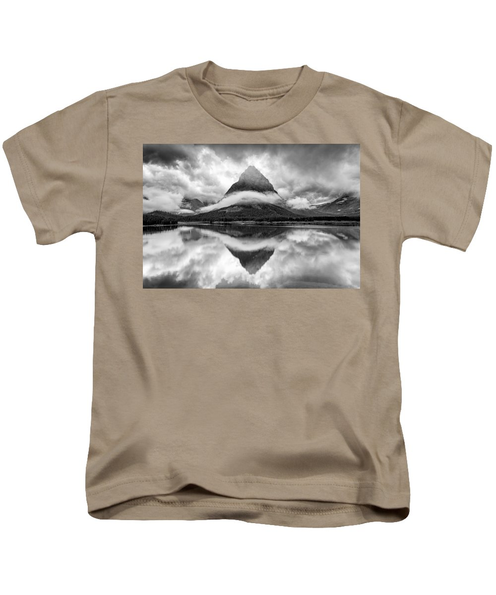 Glacier Kids T-Shirt featuring the photograph Tie A Ribbon by Michael Blanchette