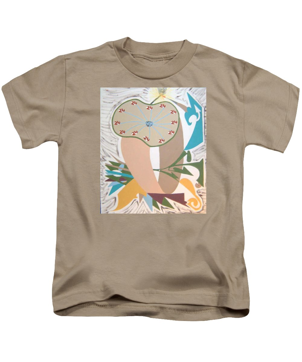 Abstract Kids T-Shirt featuring the painting Times Up by Dean Stephens