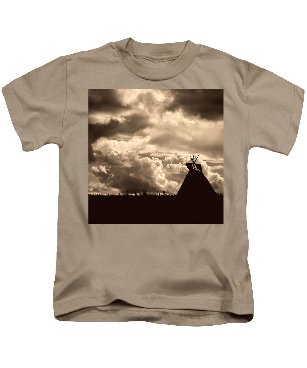 Sky Kids T-Shirt featuring the photograph Tipi by Bob Orsillo