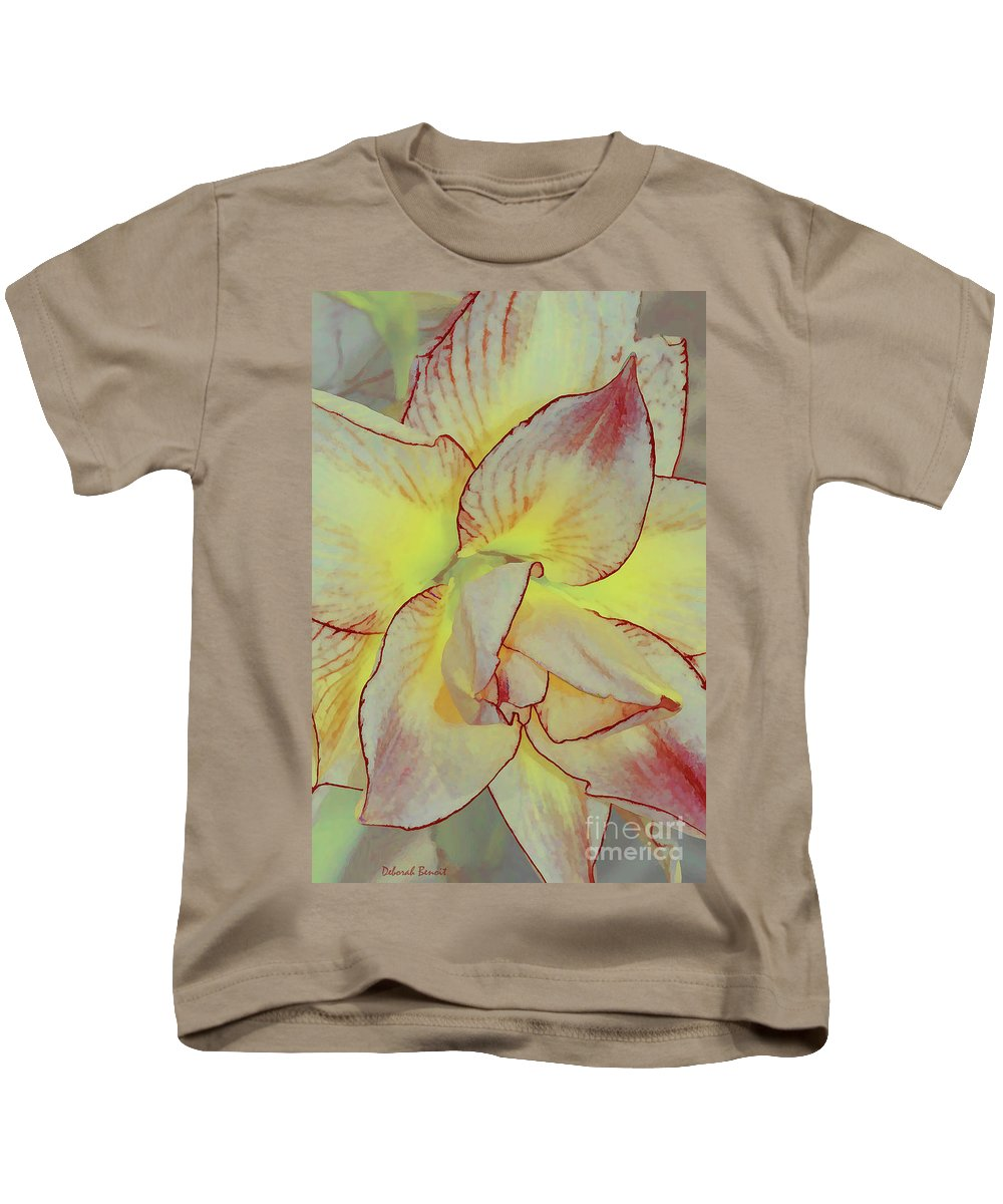 Flower Art Kids T-Shirt featuring the photograph Touch Of Red by Deborah Benoit