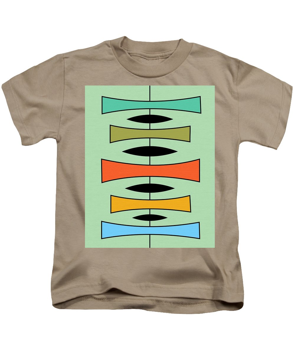Abstract Kids T-Shirt featuring the digital art Trapezoids 2 by Donna Mibus