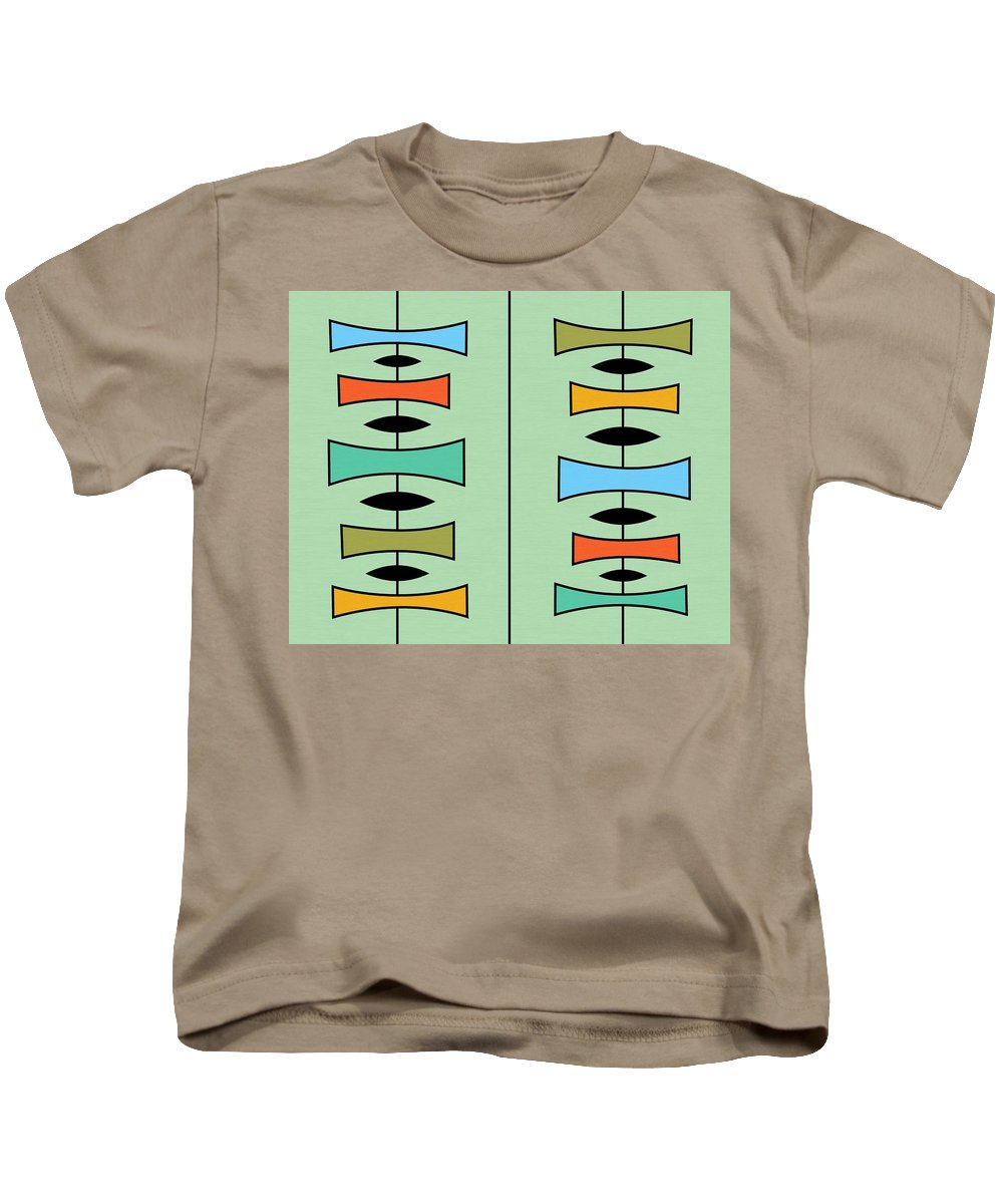 Abstract Kids T-Shirt featuring the digital art Trapezoids 3 by Donna Mibus