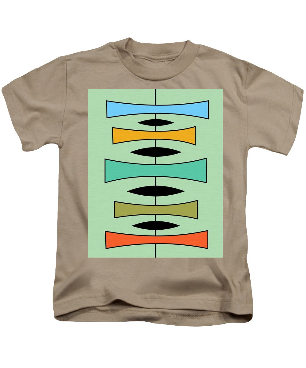 Abstract Kids T-Shirt featuring the digital art Trapezoids by Donna Mibus