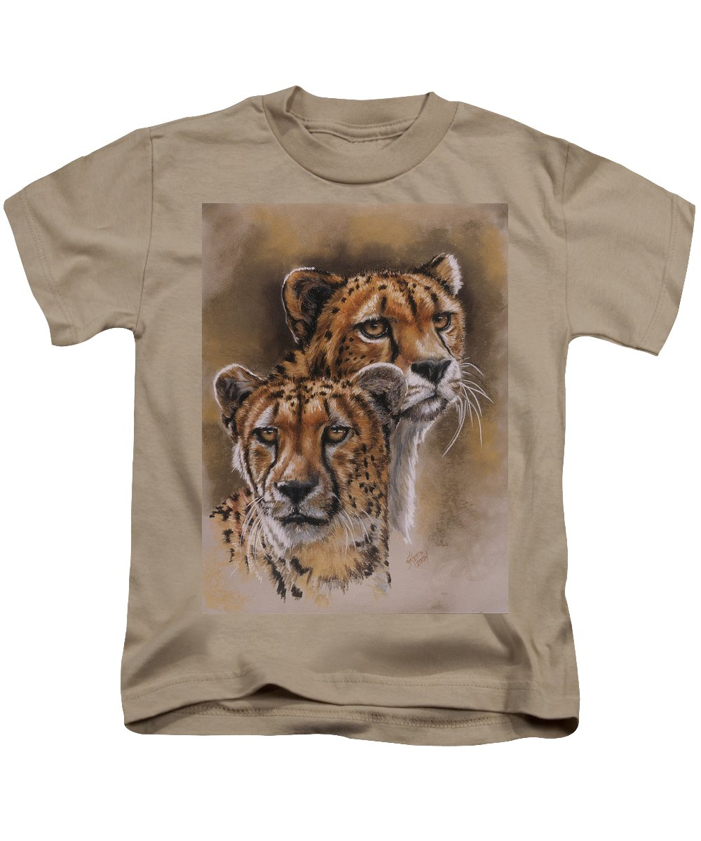 Cheetah Kids T-Shirt featuring the pastel Twins by Barbara Keith