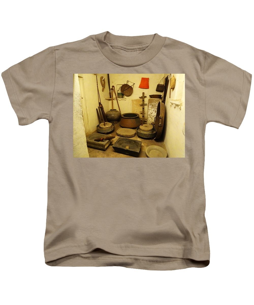 Udaipur City Palace Kids T-Shirt featuring the photograph Udaipur City Palace Rajasthan India Queens Kitchen-2 by Sue Jacobi