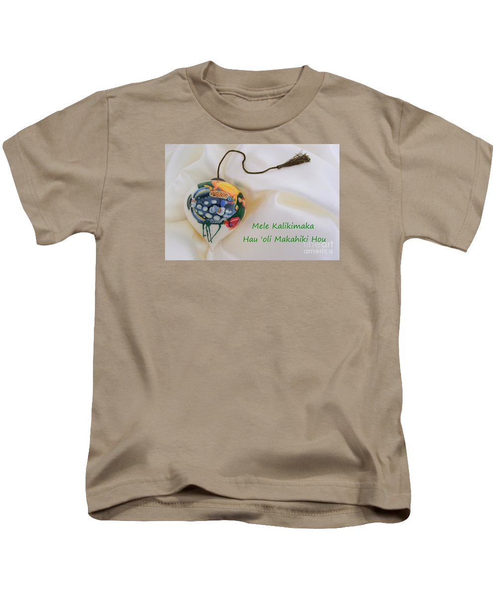 Christmas Kids T-Shirt featuring the photograph Vintage Hawaiian Christmas Bulb by Mary Deal