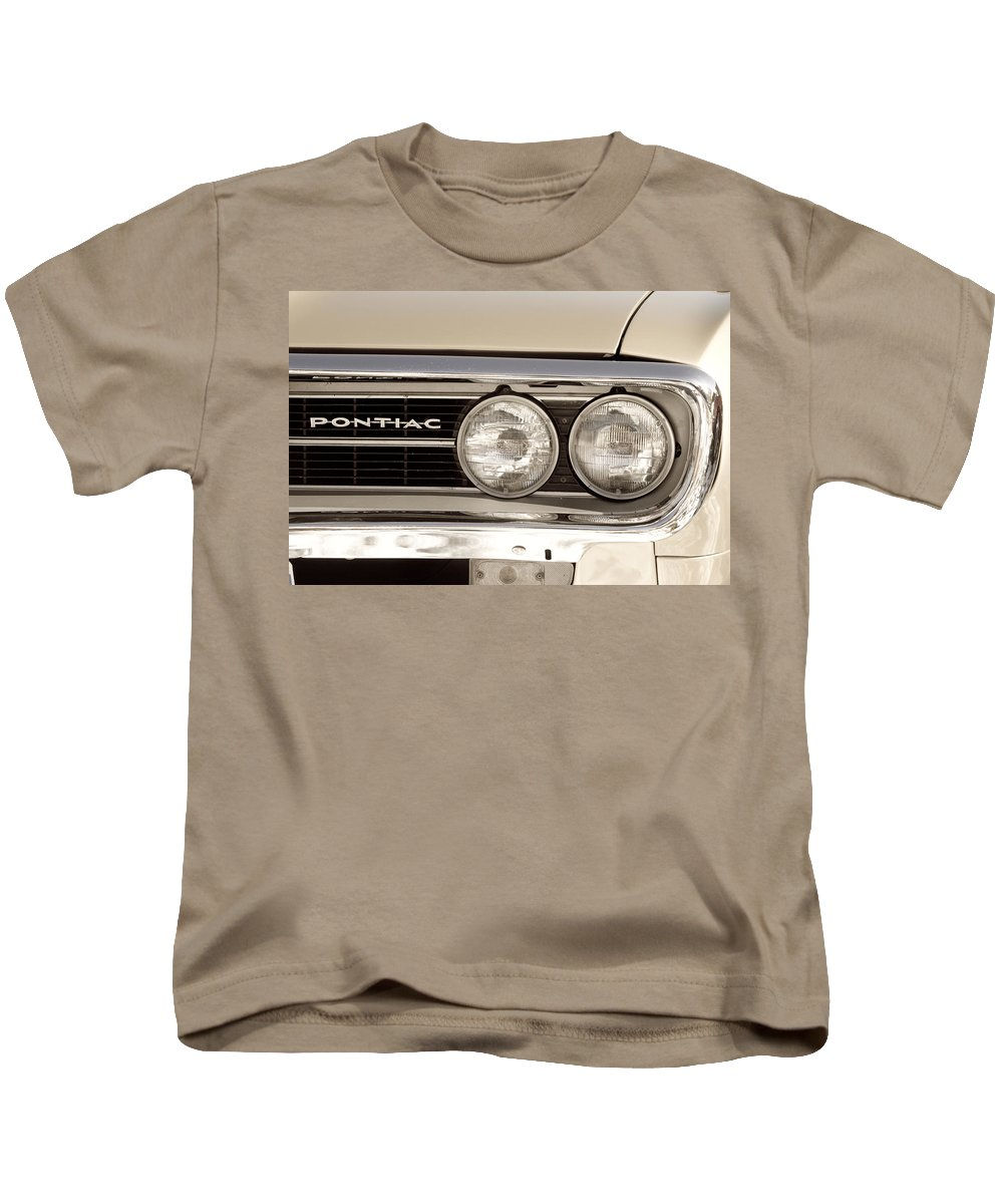 Automobiles Kids T-Shirt featuring the photograph Vintage Pontiac Firebird 1967 Close Up by James BO Insogna