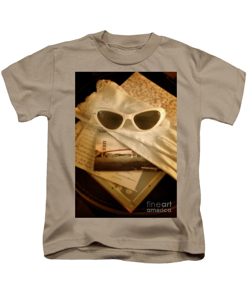Sunglasses Kids T-Shirt featuring the photograph Vintage Travel by Jill Battaglia