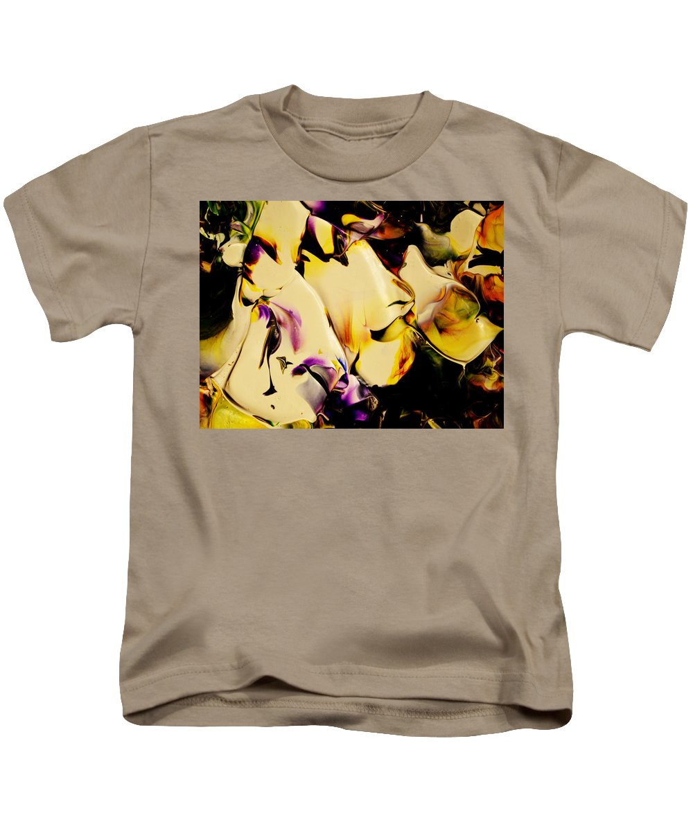 Abstract Kids T-Shirt featuring the painting Botanical # 1212 by Antonia Lazaki