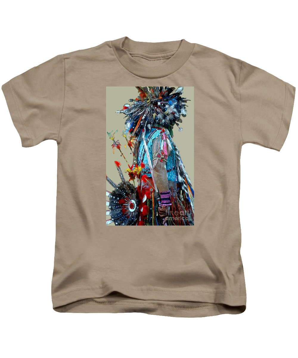 Indians Kids T-Shirt featuring the photograph Waiting To Dance by Linda Parker