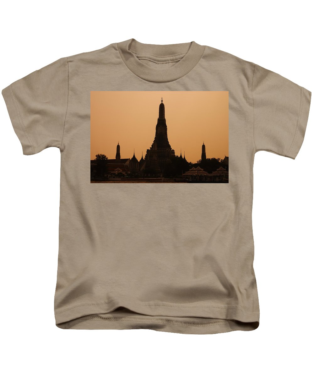 3scape Photos Kids T-Shirt featuring the photograph Wat Arun by Adam Romanowicz
