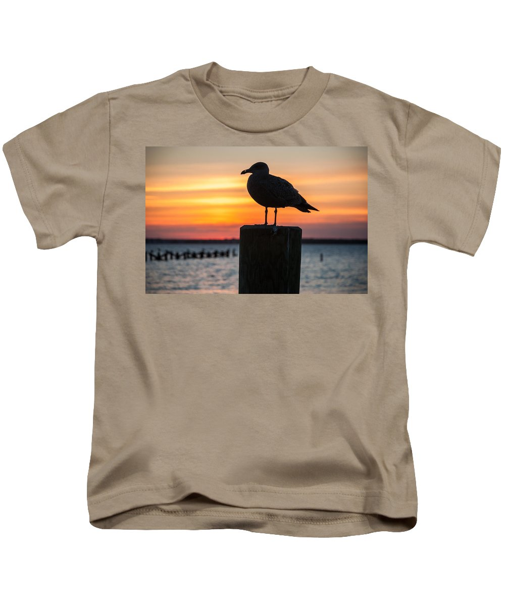 New Jersey Kids T-Shirt featuring the photograph Watch The Birdie by Kristopher Schoenleber